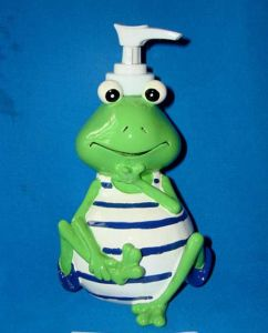 Polyresin Frog with Soap Dispenser pictures & photos