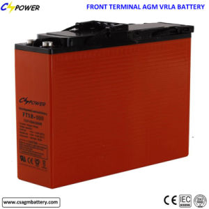 Manufacturer FT12-100ah Front Terminal Lead-Acid Battery for Power System pictures & photos