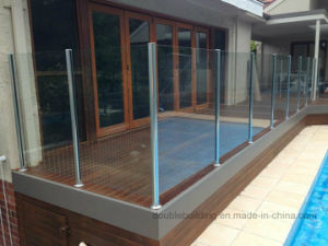 Fiji Stainless Steel Slot Channel Post Balcony Glass Balustrade for Villa pictures & photos