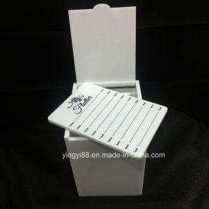 New Design Eyelash Organizer White Acrylic Eyelash Box pictures & photos