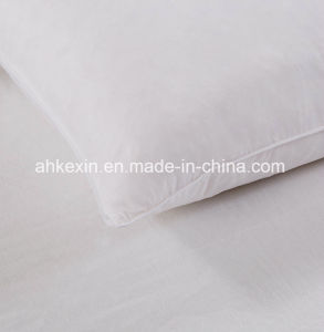 White Color Cotton Duck Feather Sleeping Pillow pictures & photos
