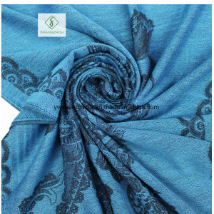 Wholesale Fashion Lady Scarf with National Style Jacquard Shawl pictures & photos