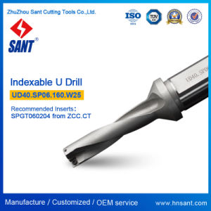 U Drill Ud40. Sp06.160. W25 From Zhuzhou Sant Indexable Drilling Tools with Carbide Insert Spgt060204 Spmg060204 pictures & photos