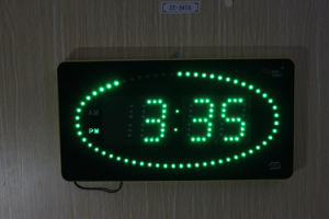LED Clock with Colorful Circling LED Second Indicator -Ractangle Shape pictures & photos
