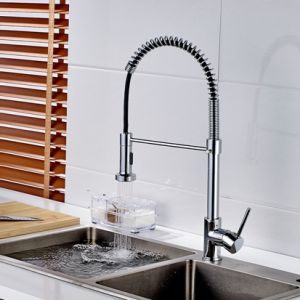 Flg Spring Style Kitchen Sink Mixer Faucet Pull Chrome Kitchen Taps pictures & photos
