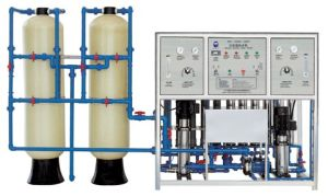 1000 L/H Reverse Osmosis System Water Treatment Machine