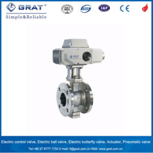 350 Degree Stainless Steel 316 Metal Seal Electricity Motorized Ball Valve for Boiler Steam pictures & photos