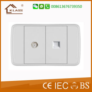 Venezuela Market Satellite Socket with TV Socket with Ce Certificate pictures & photos