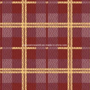 100%Polyester Orange Plaid Pigment&Disperse Printed Fabric for Bedding Set pictures & photos