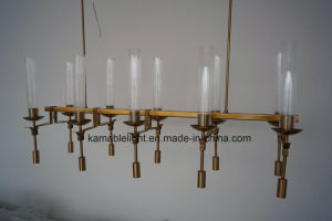 Restaurant Copper Glass Pendant Lamps (KAP6017) pictures & photos