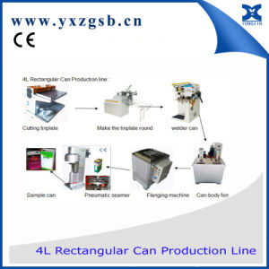 1-4L Semi-Automatic Paint Rectangular and Square Tin Can Production Line pictures & photos