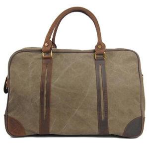 Vintage Genuine Leather Retro Canvas Tote Handbag Travel Bag for Men Ga12 pictures & photos