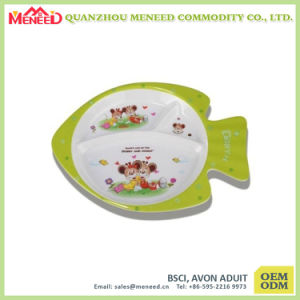 OEM Cute Design Bap Free Plastic Food Compartment Tray pictures & photos