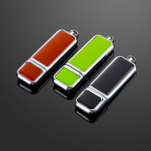 Leather USB Flash Drive with Embossed Logo pictures & photos
