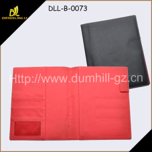 A5 PU Leather Business Document Folder with Magnetic pictures & photos