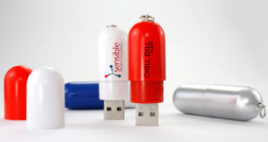 Custom Printed USB USB Flash Drives Capsule Shape USB pictures & photos