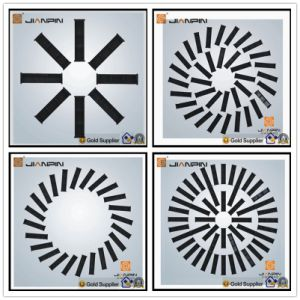 Square Iron Ceiling Swirl Diffuser with Adjustable Blades pictures & photos