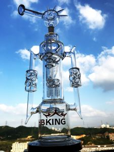 Glass Water Pipe Double Recyclers Detached Are-Tree Perc pictures & photos