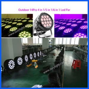 IP65 Outdoor Quad LED 14PCS Flat DJ/Club PAR Light pictures & photos