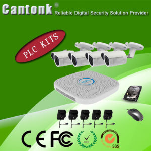 Real Time 720p 1.0MP H. 264 4CH Channel PLC NVR & IP Camera Kits (PLCPG420RH10) pictures & photos
