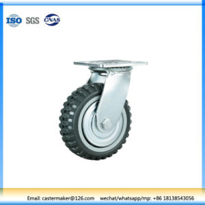 Durable Heavy Duty Flat Plate Swivel/Rigid/Brake PU Wheel Casters pictures & photos