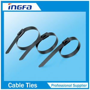4.6*150mm Ss304 Full Coating Stainless Steel Cable Ties pictures & photos
