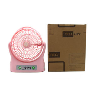 Wholesale Big Wind Fan ABS Plastic Pink Fan DC 5V Rechargeable Battery Cooling Fan pictures & photos
