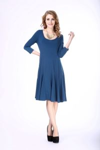 Women′s Plus Size Casual Knit Dress Middle Aged Women Fashion Dress pictures & photos