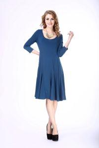 Women′s Plus Size Casual Knit Dress Middle Aged Women Fashion Dress pictures & photos