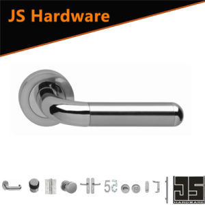 Jiangmen Factory Bicolor Stainless Steel Door Handle with Round Rose pictures & photos