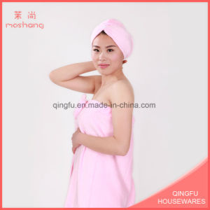 Coral Fleece Soft Bath Towel with Hair Drying Towel pictures & photos