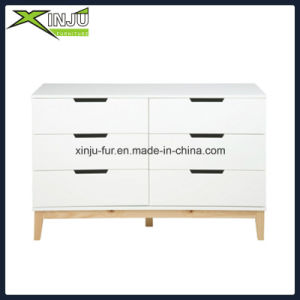 Home Living Wooden 5 Drawer Chest White (with solid wood legs) pictures & photos