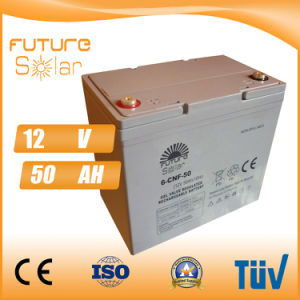Futuresolar Lead Acid Battery 12V 50ah Solar Panel Rechargeable Battery pictures & photos