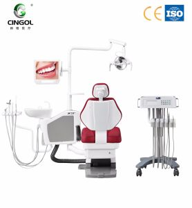 2017 Hot Sale Dental Unit with Cabinet Can Move pictures & photos