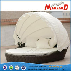 PE Wicker Outdoor Daybed in China with Tent pictures & photos