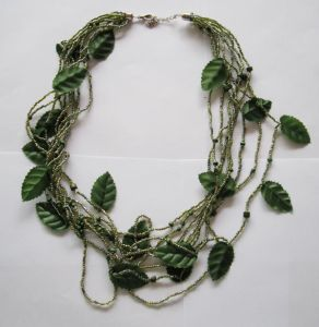 Five Color Leaves Handcraft Necklace (BGNC091010-4/5/6/7/8)