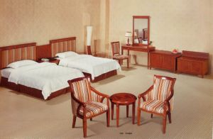 Classical Style MDF 4 Stars Hotel Bedroom Furniture (CF-718)