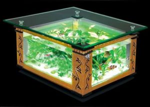 Glass Tea Table Aquarium/Square Tea Table Fish Tanks (0.9m*0.9m*0.51m)
