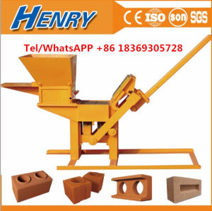 Hr1-30 Soil Clay Brick Making Machine Manual Interlocking Brick Making Machine in Price pictures & photos