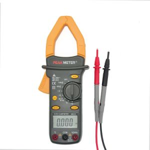 Low Price 4000 Counts Ms2101 with Frequency, Capacitance, Temperature AC/DC Digital Clamp Meter