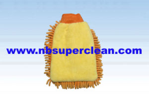 Super Absorbent Microfiber Chenille Glove for Car Washing and Polishing (CN1407) pictures & photos