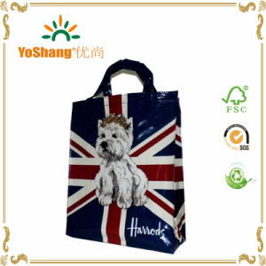 Hot Sale Famous Shiny PVC Handled Shopping Tote Bags pictures & photos