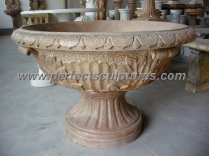 Stone Marble Flower Planter for Garden Decoration (QFP096) pictures & photos