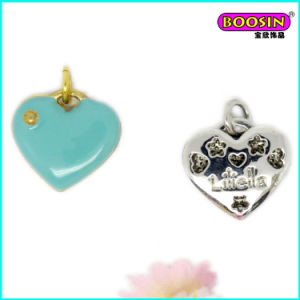 Manufacturer Custom Wholesale Enamel Necklace Heart Pendant pictures & photos