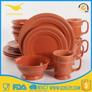 Better Quality Melamine Plastic Plate Bowl Red Tableware Set pictures & photos