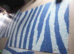 Glass Mosaic Pattern Design Swimming Pool Mosaic (HMP709) pictures & photos