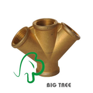 Brass Branch Pipe Fitting Three Way Female Thread pictures & photos