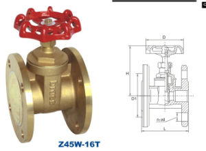 Brass Flange Gate Valve with CE and ISO9001