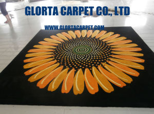 Hand Tufted New Zealand Wool Flower Carpet pictures & photos
