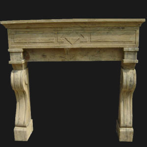 Antique Finish Stone Carving Fireplace pictures & photos